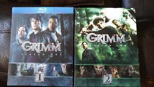 Grimm Season 1 and 2 Blu Ray brand new