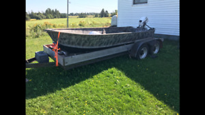 14 foot aluminum boat with 8hp outboard