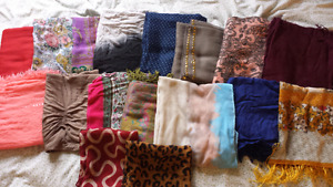 Lot of scarves