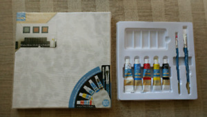 Canvas and paint kit