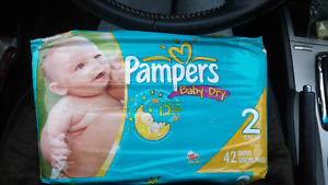 NEW Pampers baby dry size 2 packs