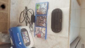 Playstation Vita -memory card and 3 games