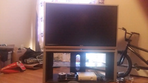 "50"" Toshiba Rear Projection TV and Stand"