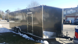 8.5x24 + 3' V-nose, 7.5' High Interior, 5200LB Axles,