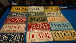 plaques de 64 a 79