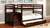 Bunk Bed with Stairs – Much safer than a ladder! (Bunk 118)