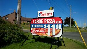 One Month FREE Full Colour Mobile - Portable Signs