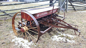 Vintage converted horse drawn Massey-Ferguson seed drill
