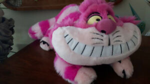 "Disney Store Cheshire Cat Alice Wonderland 18""  Plush Stuffed"