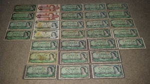 a whack of old Canadian bills!! see my other awesome ads!!!!!!!! London Ontario image 1