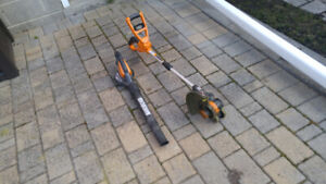 Cordless String Trimmer/Edger and Hard Surface Sweep WORX