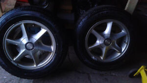 4-Oldsmobile aurora rims /tires