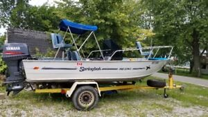Fishing Boat 17 foot Springbok with 90 Horse Yamaha outboard