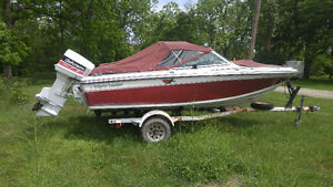 17ft bow rider 120 HP. Johnson outboard