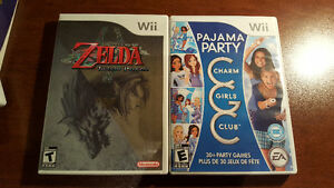 Various Wii games. Pyjama Party, Titanic