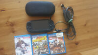 PS Vita excellent condition with accessories and 3 great games