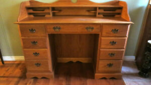 Solid Oak Writing Desk
