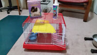 Hamster Cage 2 level and Accessories