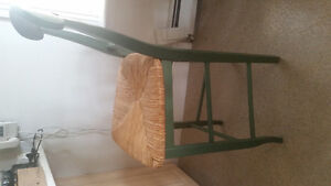 Wood/Wicker Kitchen Counter Chairs