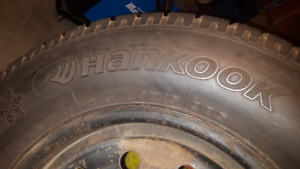 Hankook i*Pike RC01 Winter Tires on steel rims