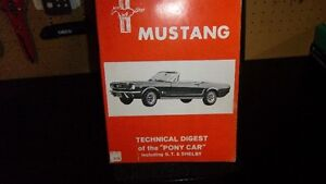 FORD MUSTANG TECHNICAL DIGEST OF PONY CAR INC GT AND SHELBY Kitchener / Waterloo Kitchener Area image 1
