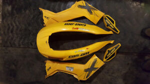 can-am Renegade XXC  plastics, hand guards and seat cover 07-11