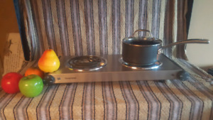 Stainless steel 2 burner range