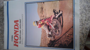 Honda XL , XR 75 - 100  dirt bike maintenance manual
