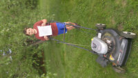 Lawn mowing and yard work