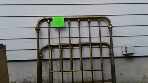 REDUCED Antique double size brass bed frame