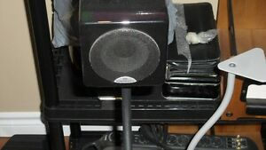 4 monitor audio cubes with stands and 4 celestion sur. with cent