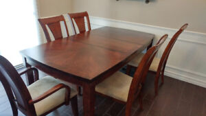 7 pc Dining Table set (extension table)