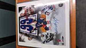 Signed wayne gretzky picture in a frame Edmonton Edmonton Area image 1