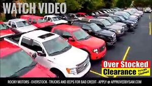 OVERSTOCK FOOTAGE OF TRUCKS AND JEEPS FOR BAD CREDIT