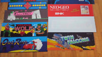 Arcade Marquee sign's BIG LOT double dragon street fighter wwf