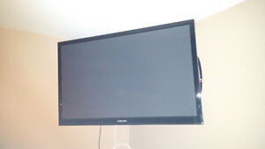 "Samsung 42"" plasma tv with swivel wall mount"