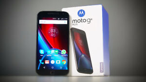 MOTO G4 PLUS - (Unlocked) - 32G with box and extras