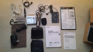 Sony portable minidisc player and recorder