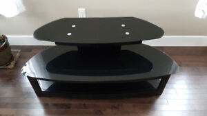 Elegant Modern Design High-end Black Glass TV stand