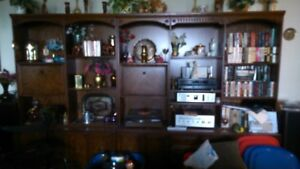 Solid Wood Wall Unit - Must sell by June 20 - Best offer