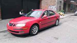 Belle Saab 93  2003 turbo manuel laser red cuire than