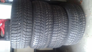 winter tires 225 x 55R16 and rims 5 x 100