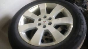 2004 - 2009 Cadillac SRX OEM Rims and Tires Michelin 255/55/18
