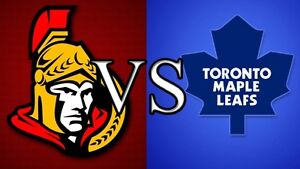 4 TICKETS TO SOLD OUT GAME SENATORS VS. LEAFS SEPT.26 HALIFAX