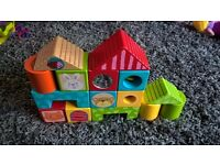 ELC wooden colourful building blocks toddler toy