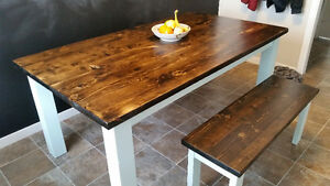 Rustic wood furniture. Contact  2502032980