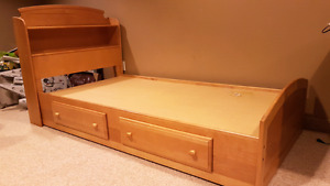 Twin bed with dresser