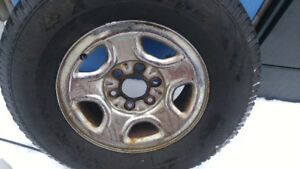 """WINTER TIRES ON RIMS, 16"""", CHEVY/GMC"""