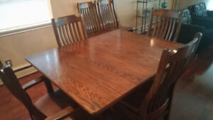 Solid Oak Dining Set Mennonite