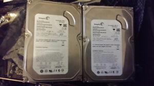 2 Seagate SATA hard drives 80Gig each